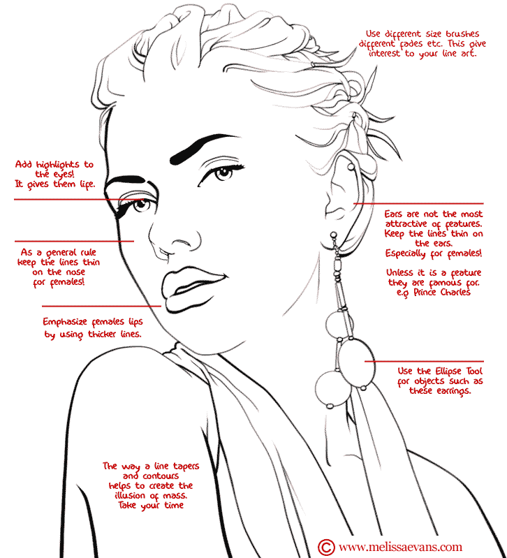 Line Art Instructions