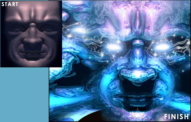 Ice Mask Photoshop Tutorial 01