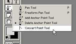 Convert Point Tool in Photoshop