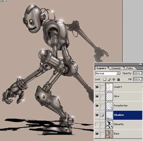 Colouring Robot in Photoshop 12