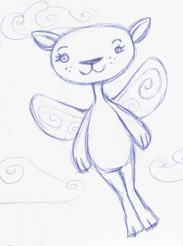 Cute Cartoon Flying Fictional Animal